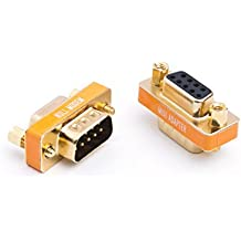 Adattatore da maschio a femmina DB9Null modem Slimline trasferimento dati porta seriale adattatore placcato oro 2pezzi
