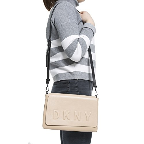 Dkny Embossed Logo Femme Shoulder Bag Nude Nude