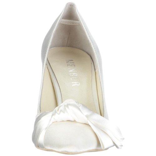 MENBUR Lidia 04003, Scarpe eleganti donna Avorio