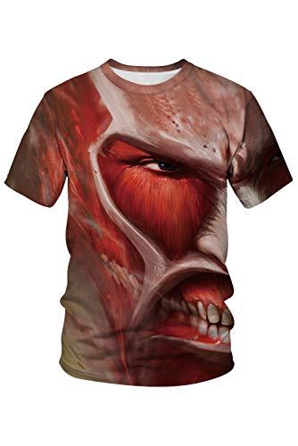 Cosplay Angriff Titan Auf Kostüm - RedJade Herren Damen Anime Cosplay Kostüm Angriff auf Titan Kurzarm T-Shirt
