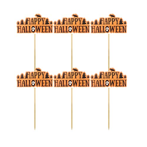 een Kuchendeckel Halloween Thema Kuchen Picks Papier Cupcake Decor Festival Party Supplies 12 Stück ()