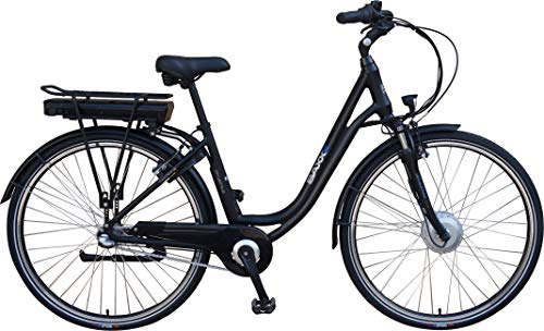 SAXXX City Light Plus E-Bike Pedelec 10,4 Ah 374 Wh Elektrofahrrad Shimano Nexus m. Rücktritt (schwarz matt)
