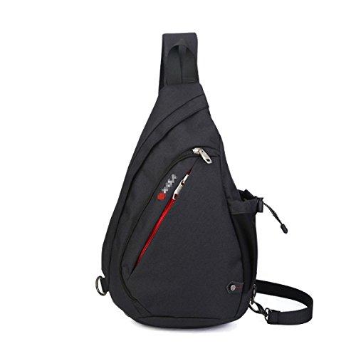 Klassische Hochwertige Messenger Bag Outdoor Sport Daypack Black