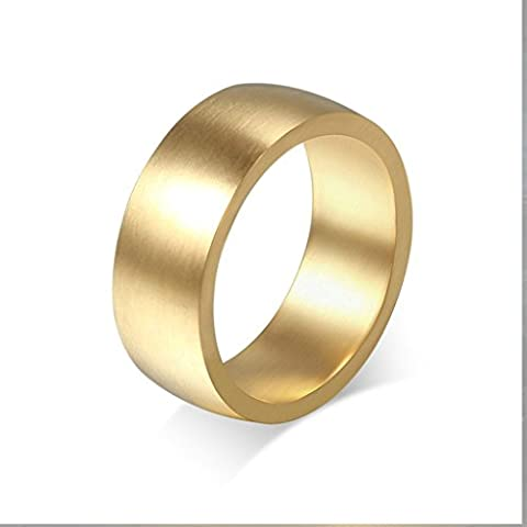 Alimab gioielli anelli uomo Acciaio inossidabile acciaio Banda nozze liscio Plain