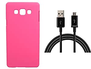 Toppings Hard Case Cover With Data Cable For Samsung Galaxy E7 - Pink