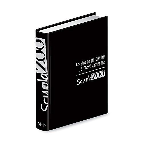 Diario Scuolazoo nero argento datato 16 mesi cm 11x15