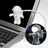 Vistefly Luce Astronauta Astronauta Spaceman USB Light - USB Night Lamp, Lampada da tavolo PC Computer, Bianco