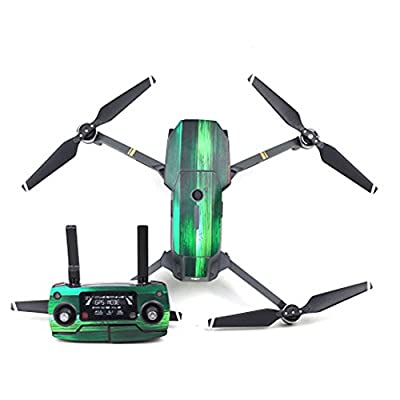 Flycoo New Pattern Carbon Fiber Sitcker Decals Skin for DJI Mavic Pro Drone Body and Remote Controller