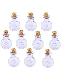Botellas Corcho Cristal 10pcs Xo Frascos Frasco Que Desea Botella Colgante Bricolaje Purpura