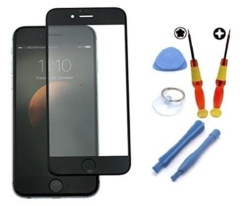 Dinocell® Displayglas LCD-Glas Ersatzglas für original Iphone 6 6G schwarz black inkl. Dinocell® Premium Werkzeug, NEU