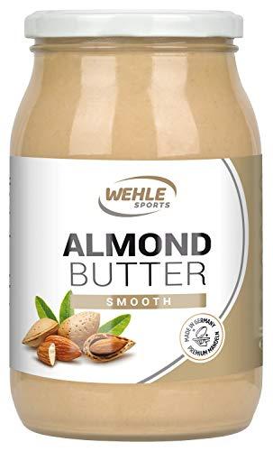 Bio-sesam-butter (Mandelbutter - Premium Mandelmus - Almond Butter natürliches Nussmus veganer/ vegetarischer Brotaufstrich für Smoothies, Backen, Snack (Smooth, 900g Glas))