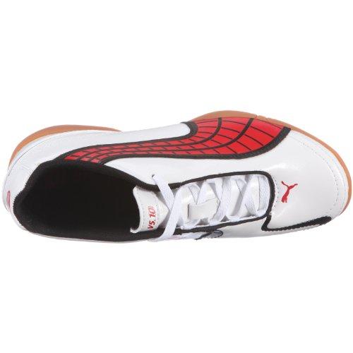 PUMA v5.10 II IT Jr 102239 Unisex - Kinder Sportschuhe - Fußball Weiss/White-Pompeian Red-Black