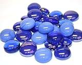 Glas Mosaik Fliesen Blau Mix Nuggets abgerundete Gems