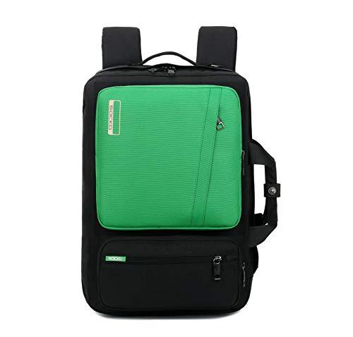Zaino multifunzionale per borsa uomo e donna portatile monospalla nero con verde