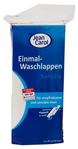 Jean Carol Einmal-Waschlappen, Sensitiv, 13er Pack (13 x 28 Stück)