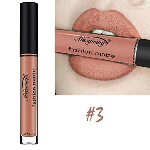 Huihong Wasserdichte flussige Make-up Lip Pencil Matte Lippenstift Lip Gloss Super Long Lasting (Göttin Farbe-C)