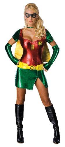 Karneval Damen Kostüm Sexy Robin aus Batman als Heldin Größe M (Robin Und Batman Kostüm)