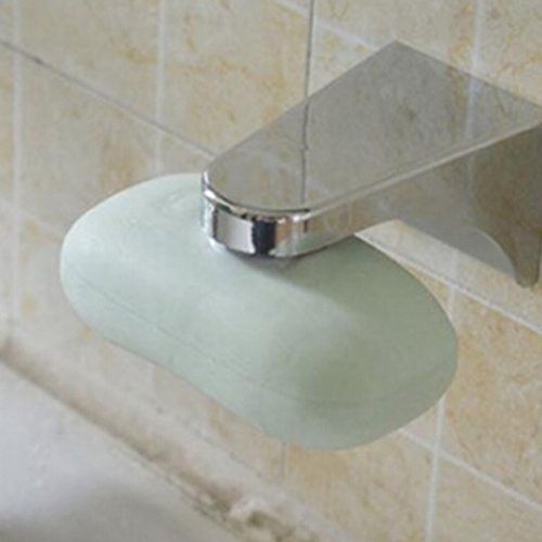 ODN Household Magnetic Soap Holder Container Dispenser Wall Attachment Adhesion for Bathroom Soap Accessories