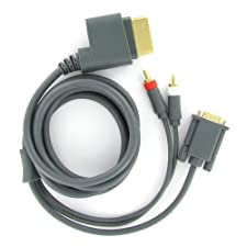 KOO Interactive - Cable VGA HD pour console Microsoft Xbox360 - Audio/Video - Sortie Optique 5.1