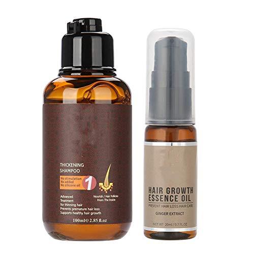 Shampoo verdickende Haarpflege (100 ml) + ätherisches Öl von Haar (20 ml), Haarausfallbehandlung & Nachwachsen der Haare