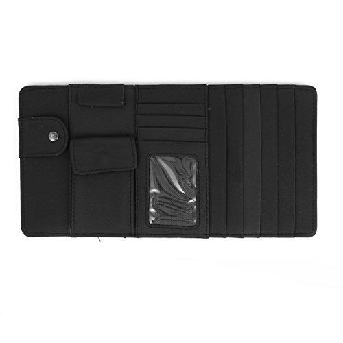 Schwarz 4 Compartments Auto Multi-Funktions-CD Visor Taschen-Halter -