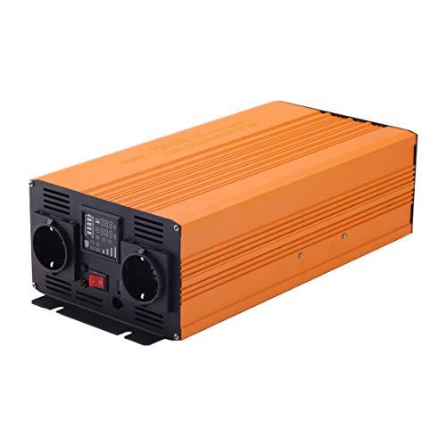 Sug 2000W DC 12V auf AC 220V 230V Wechselrichter Spitzenwert 4000W Spannungswandler Power Inverter Pure Sine Wave