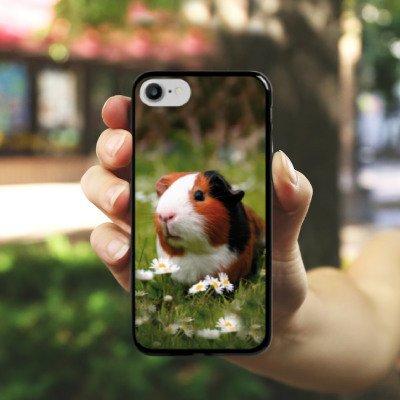 Apple iPhone 5s Silikon Hülle Case Schutzhülle Meerschwein Meerschweinchen Tiere Hard Case schwarz