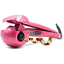 Enrollador automático de pelo Curling LCD Display Curler de cerámica Iron Wave Machine Steamer Euro Plug