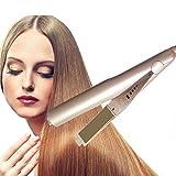 MDGCSIC Tenacillas 2 en 1 rizador de pelo profesional iron salon hair styler curling varita waver enderezar la máquina de hierro herramienta de peinado del hierro