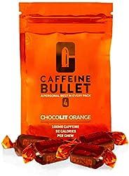 Cafeïne Bullet Energy Chews - chocoladesinaasappel * 4 - Snellere kick dan pillen, gels en kauwgom. 100 mg caf