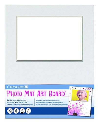 Crescent White Matte (Crescent Karton CO Spanplatte Foto Matte Art Board 20,3x 25,4cm 15/pkg-White, hält 4-Zoll-X 6)