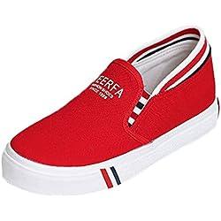 Minetom Donne Estate Autunno Scarpe Di Tela Moda Loafer Scarpe Leisure Fitness Espadrillas Rosso 39