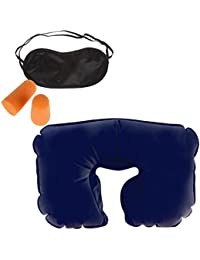 PERFECT SHOPO 3 In 1 Air Travel Kit Combo - Pillow , Ear Buds & Eye Mask(Assorted,Pillow - Flannelette , Ear Buds...