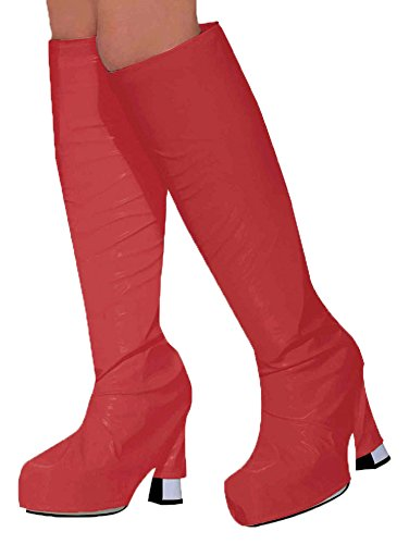 (Bristol Novelty BA530 Decken für die Stiefel, Rot, Damen Einheitsgröße)