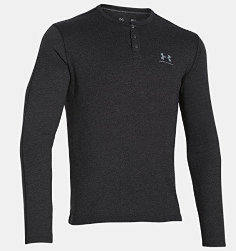 Under Armour Herren Triblend Sportstyle Henley Sweatshirt Fitness, Ash, LG -