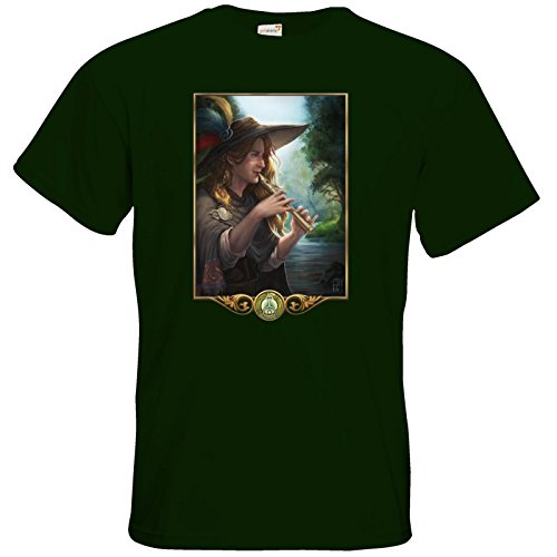 getshirts - Das Schwarze Auge - T-Shirt - Götter - Aves Bottle Green