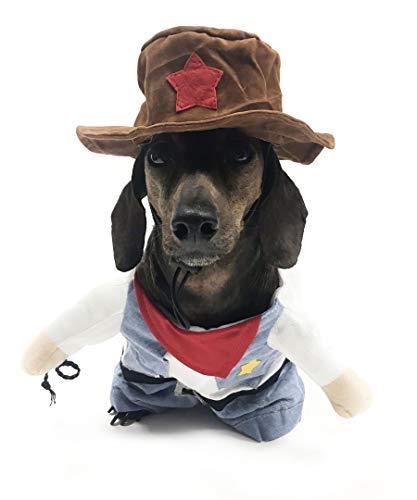 Midlee XS Fake Cowboy-Kostüm für Kleine Hunde (Kleine Extra Halloween-kostüme Hund)
