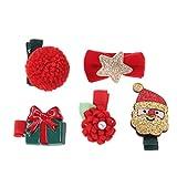 Frcolor Fermagli per fiocco di grosgrain natalizi mollette per capelli accessori per capelli per bambine - 5 pezzi