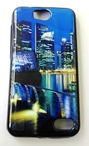 Premium Stylish Designer Party Wear Soft Printed Fancy Back Cover For Intex Aqua 4.5 Pro