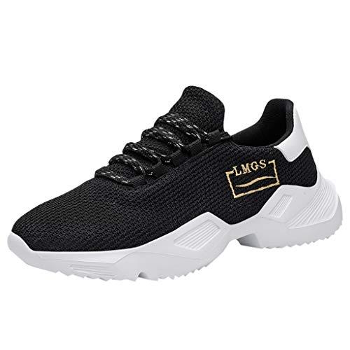 Lilicat Scarpe Running Sneakers Uomo Sport Scarpe da Ginnastica Fitness Respirabile Mesh Corsa Leggero Casual all'Aperto Sneakers(Bianco-A,43 EU)