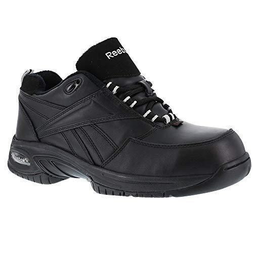 Reebok Womens Black Leather Athletic Oxford TYAK Composite Toe Composite Toe Oxford