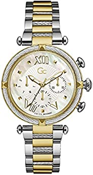 Gc Womens Quartz Watch, Analog Display And Stainless Steel Strap - Y16020L1MF