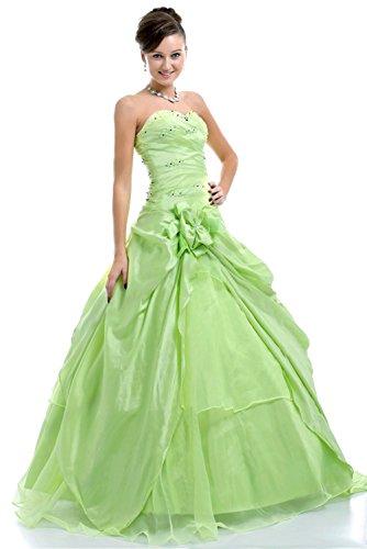 Faironly Frauen trägerlosen Abendkleid Formal Grün C80 (L)