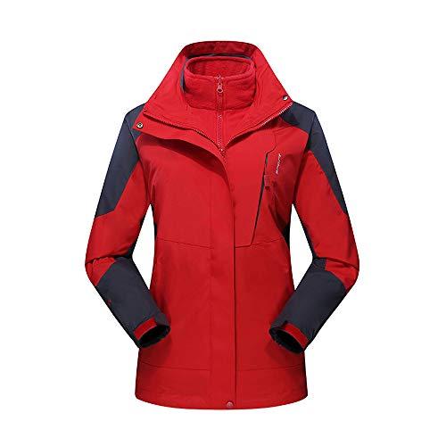 Damen Winter Draussen Outfit Zwei Stück DREI Im EIN Wasserdicht Atmungsaktiv Mantel - Angora Rollkragen