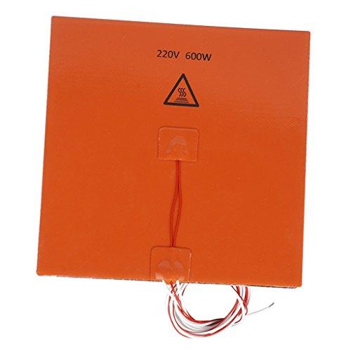 MagiDeal 200x200mm 220 V 600 W Almohadilla de Calentador de Silicona 3D Impresora Climatizada Cama Calefacción Mat
