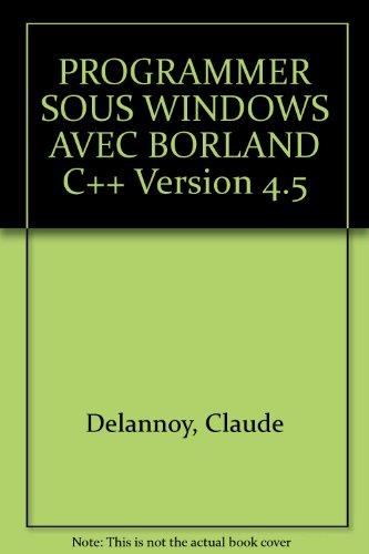 Programmer Windows avec Borland C++ 4.5