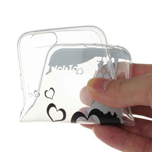 """Für iPhone 6/6S 4.7"""" [Scratch-Resistant] Weichem Handytasche Weich Flexibel Silikon Hülle,Für iPhone 6/6S 4.7"""" TPU Hülle Back Cover Schutzhülle Silikon Crystal Kirstall Durchschauen Clear Case,Funyye  Süße Liebe"""
