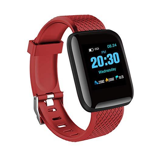 9302sonoaud Braccialetto Intelligente dello Sport di pedometro del Monitor di frequenza cardiaca dello Schermo di 1.3inch per Android iOS Rosso