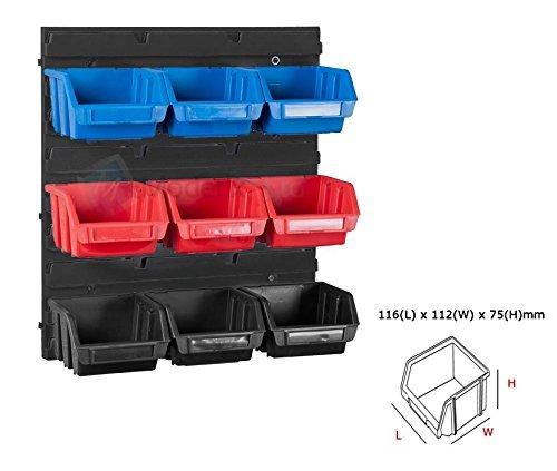 Bin Regalsystem (Patrol Group Werkstatt Wandregal Stapelboxen Schraubenbox Regalsystem 10tlg)