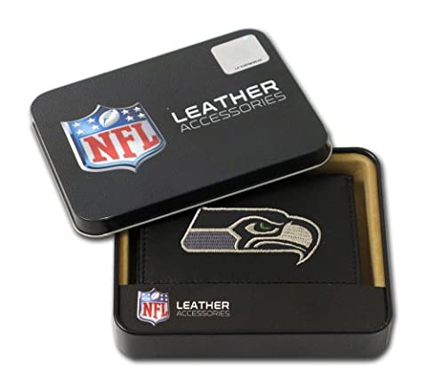 NFL Seattle Seahawks Embroidered Genuine Leather Trifold